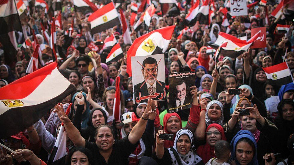 Anti-Morsi supporters gather in Tahrir square to demand his resignation in nationwide protests.