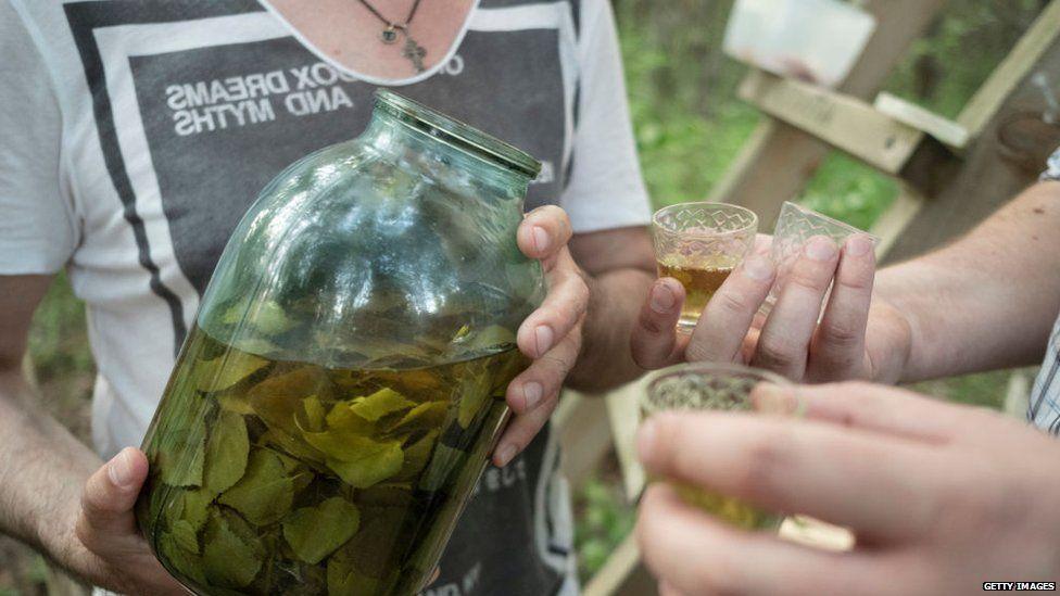 Homebrew in a big jar