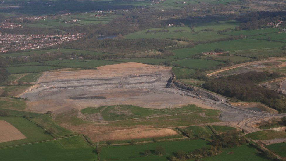 Land in Heanor where the forest will be built