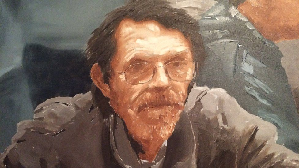 Arthur Curtis is one of the men featured in the oil painting