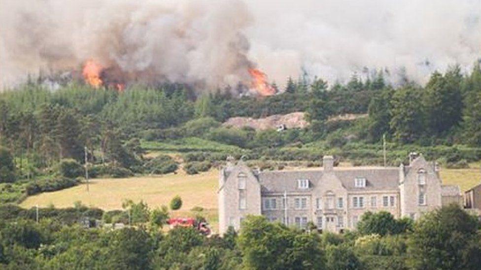 Wildfire at Ben Bhraggie