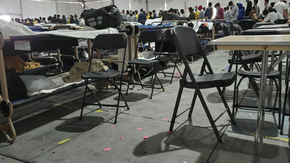 Image of inside of tents