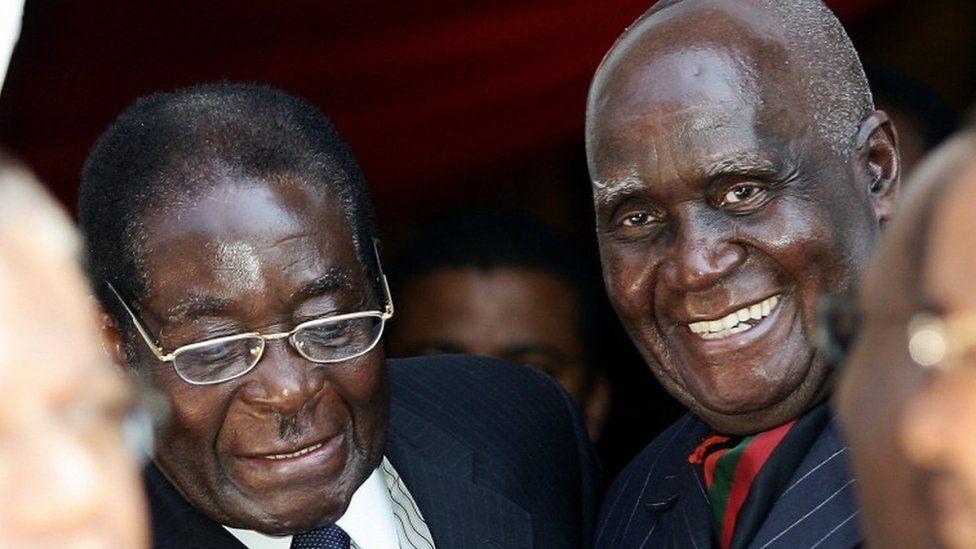 Robert Mugabe & Kenneth Kaunda in 2007