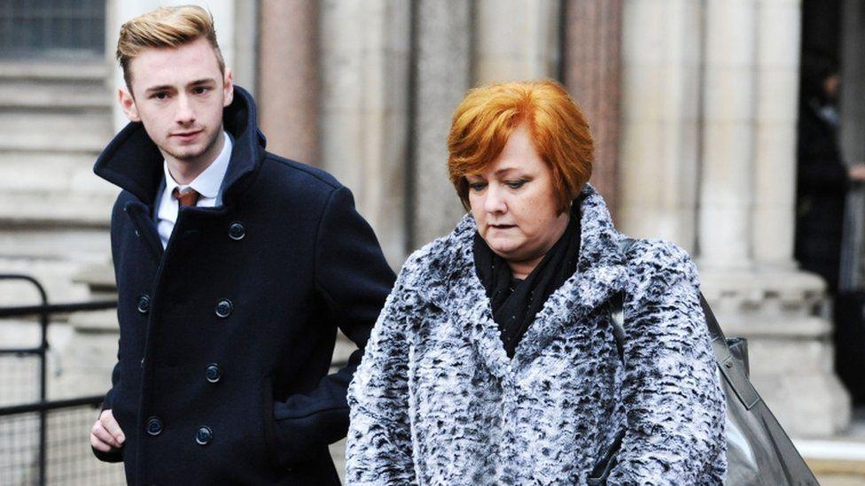Owen Richards and his mum Suzanne Richards