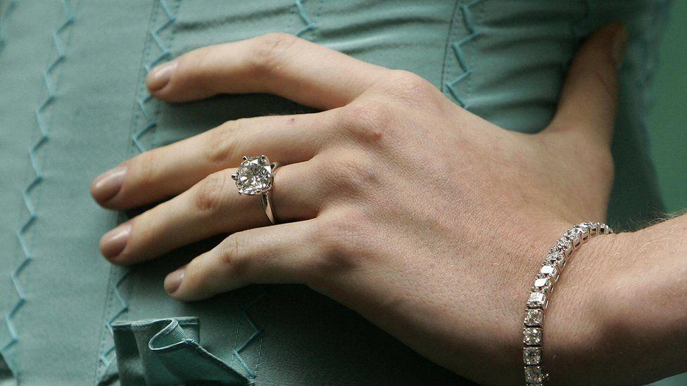 Tiffany diamond ring and bracelet