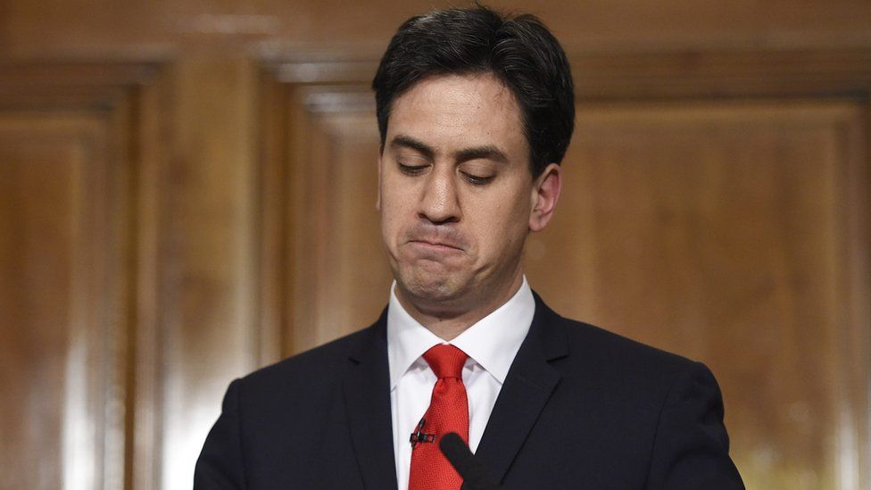 Ed Miliband announces his resignation as Labour leader on 8 May