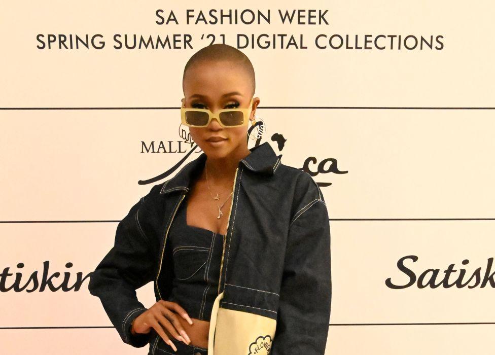 Nomuzi Mabena at a SA Fashion Week event in Midrand, South Africa - Saturday 1 May 2021
