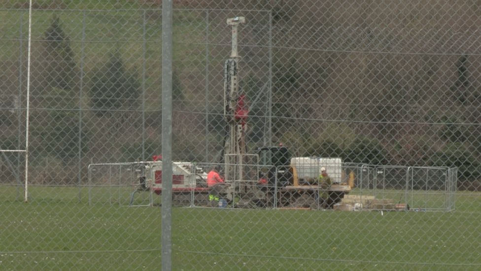 Bore hole drilling at Gerry Brown Park