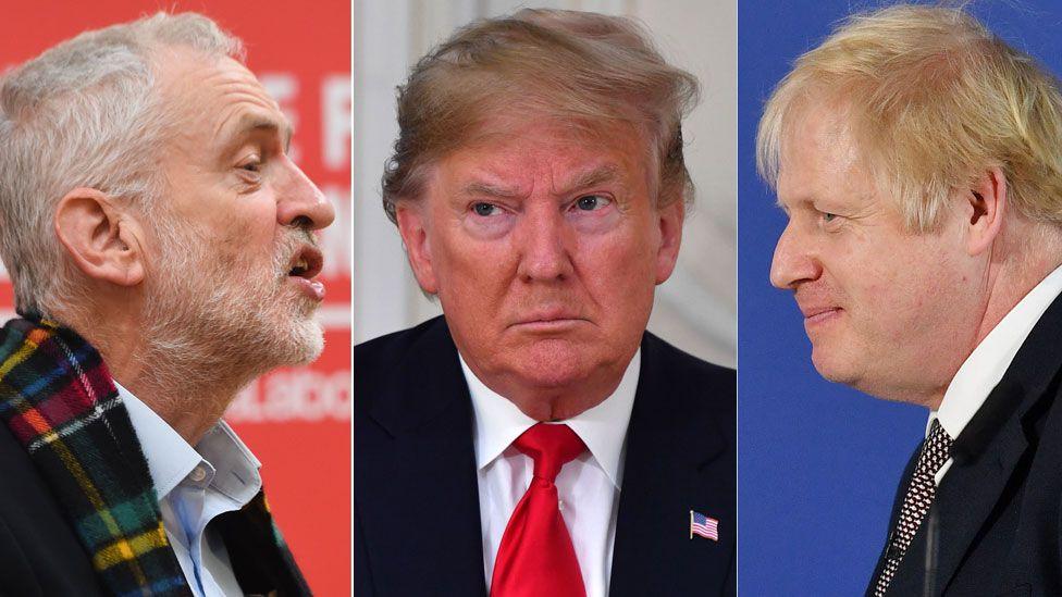 Corbyn, Trump, Johnson