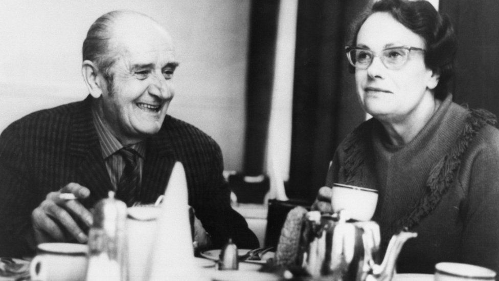 Convicted British spies Harry Houghton and Miss Ethel Gee pictured in 1970