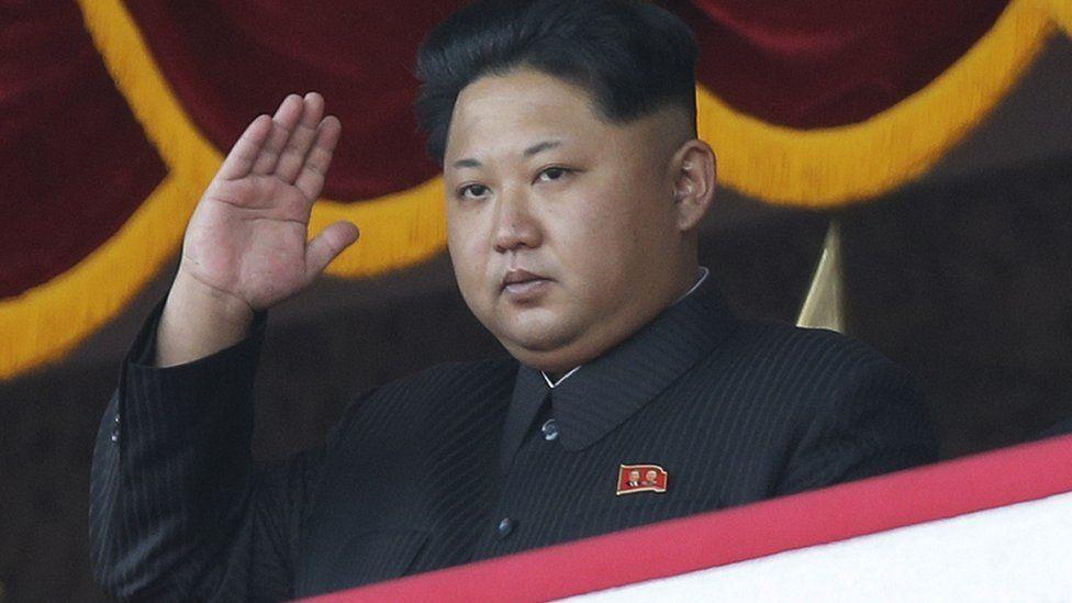 Kim Jong-un at the military parade (10 October 2015_
