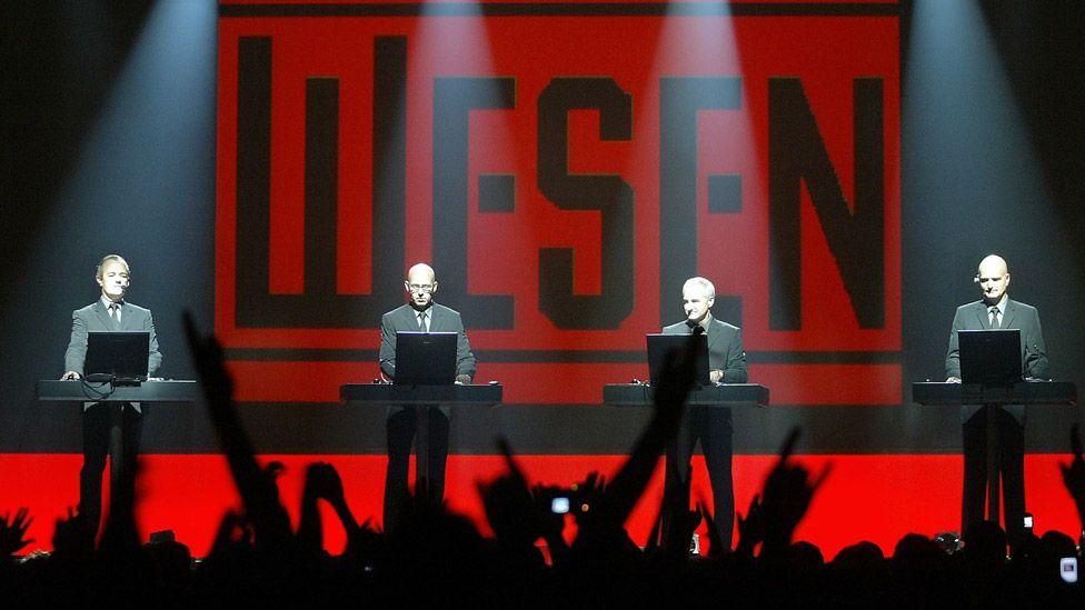 Kraftwerk on stage in 2005