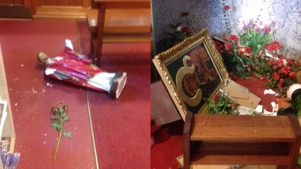 damage to church