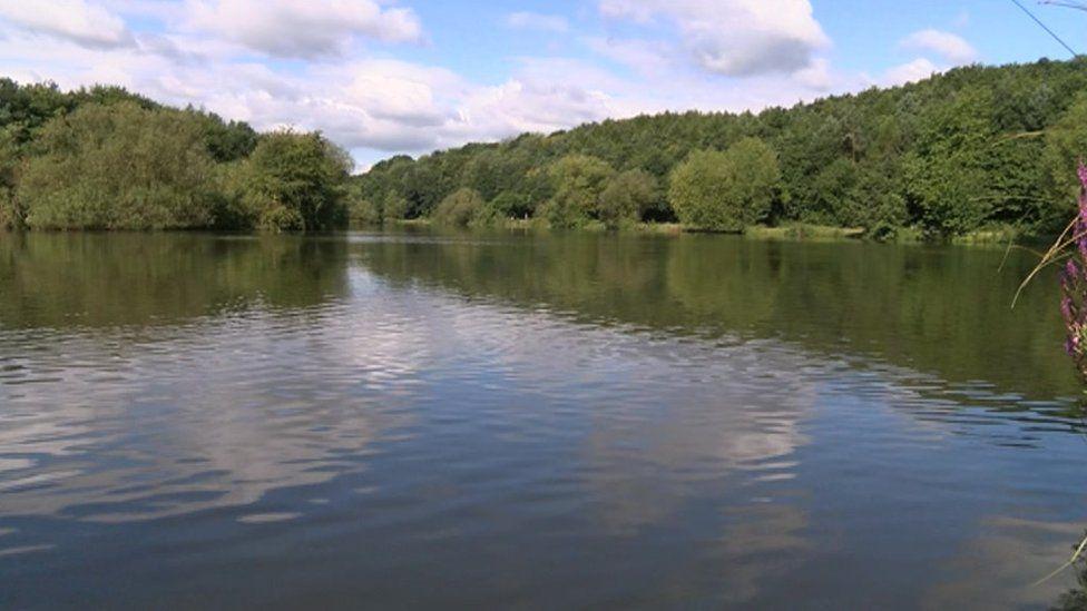 Lake at Vicar Water Country Park