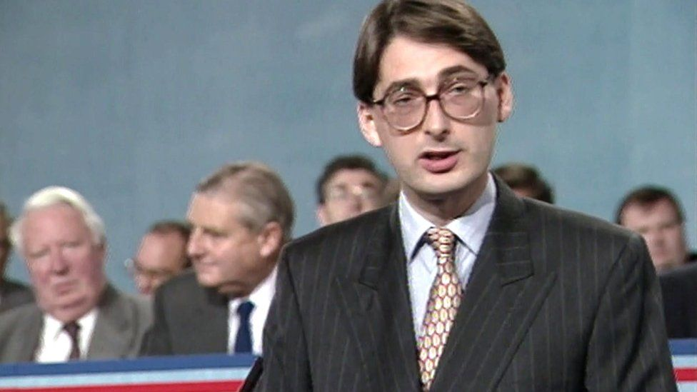 A young Philip Hammond at a Conservative conference