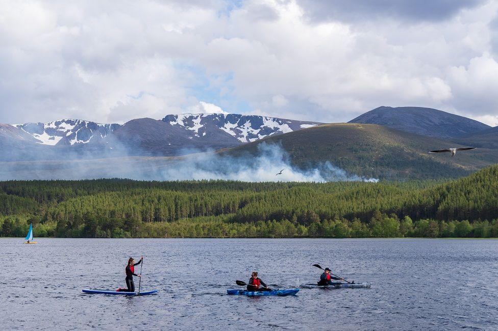 wildfire at Loch Morlich