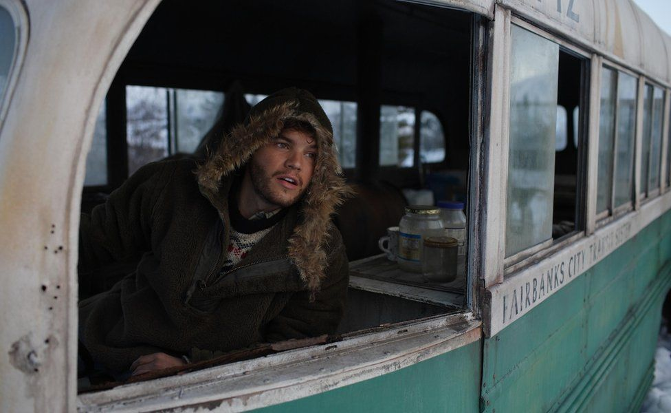 Emile Hirsch as Chris McCandless in Into The Wild