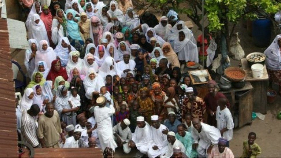 Mohammed Bello Abubakar of Bida and some of his wives