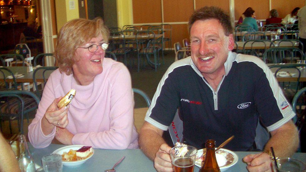 Helen Milner and Phil Nisbet in June 2006