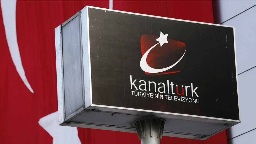 A logo of the Kanalturk TV, owned by Kozi-Ipek media group
