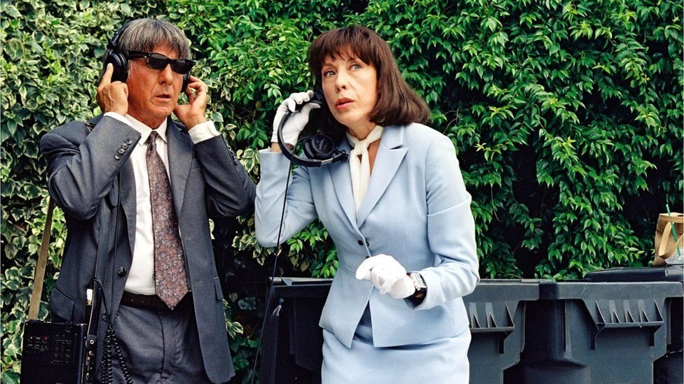 Dustin Hoffman and Lily Tomlin played detectives in David O. Russell's film, I Heart Huckabees