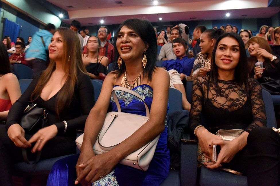 Audience at the Miss Waria Indonesia pageant