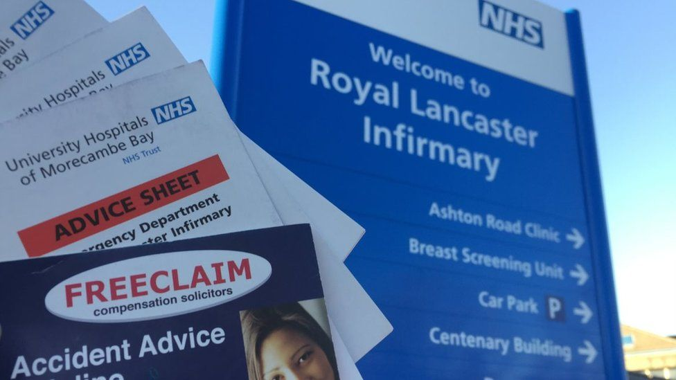 Freeclaim 'advice sheets' in Royal Lancaster Infirmary