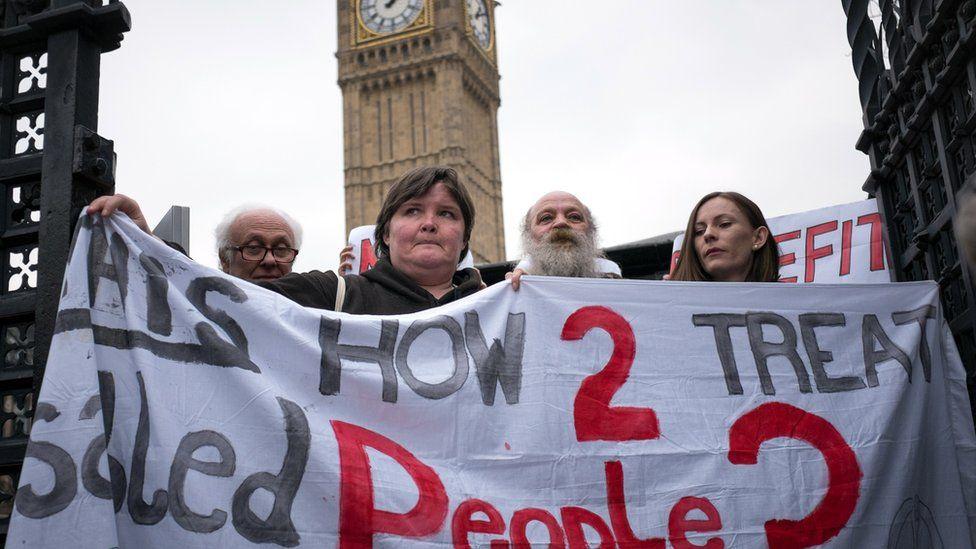 Disability protestors