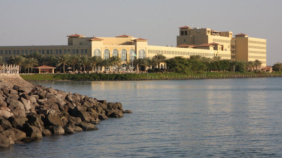View of modern Djibouti city centre and a five-star hotel
