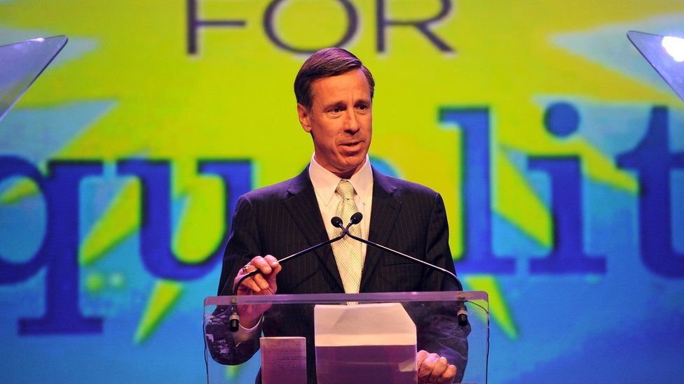 President and CEO of Marriott International Arne Sorenson speaks onstage at the 7th Annual PFLAG National Straight For Equality Awards Gala at The New York Marriott Marquis on March 30, 2015 in New York City.