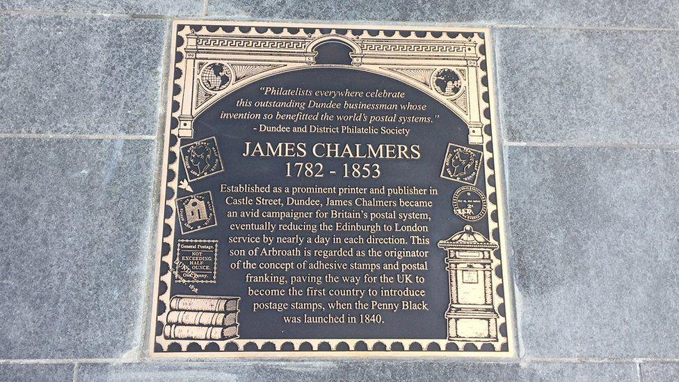 James Chalmers plaque