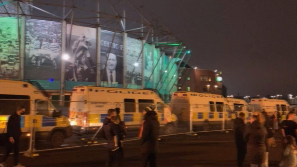 Police at Celtic Park