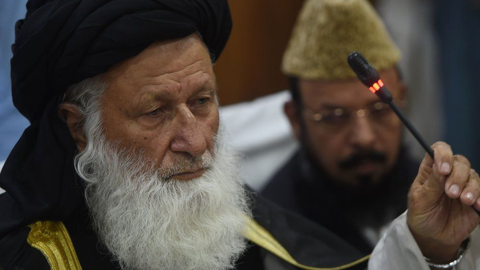 Council of Islamic Ideology chairman Maulana Muhammad Khan Sherani speaks to journalists in Islamabad on 26 May 2016
