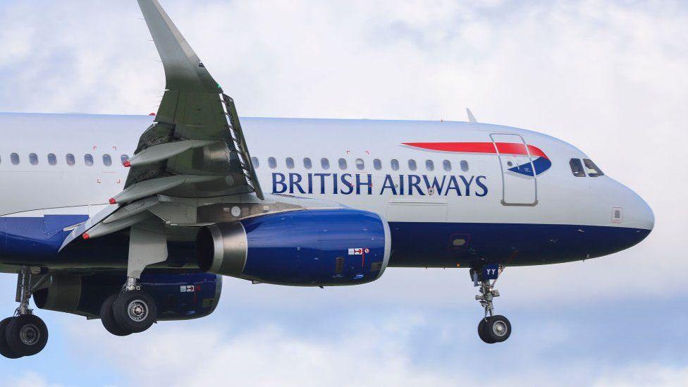 A BA plane