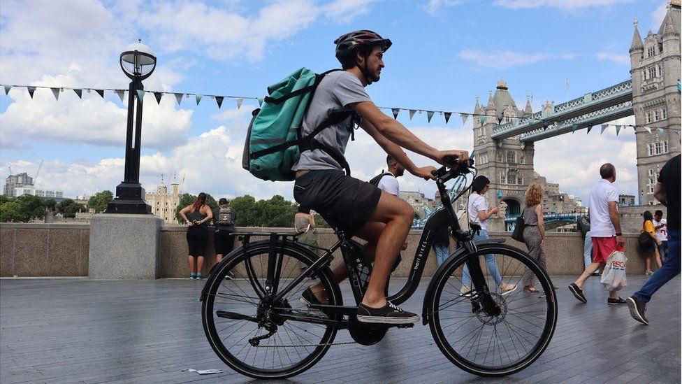 Bolt Bikes bike near Tower Bridge London