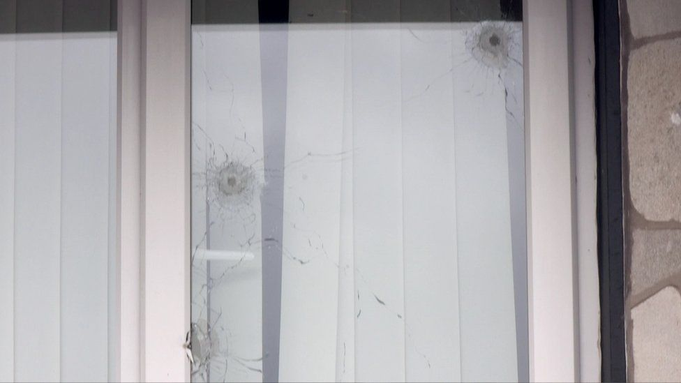 Shots fired at window