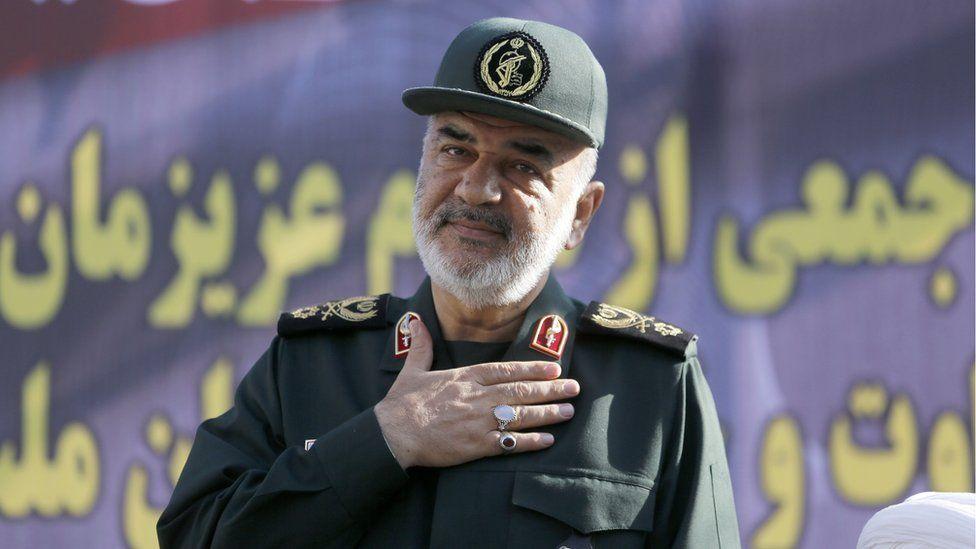 Brig Gen Hossein Salami, deputy head of Iran's Revolutionary Guards, attends a funeral ceremony in Ahvaz (24 September 2018)