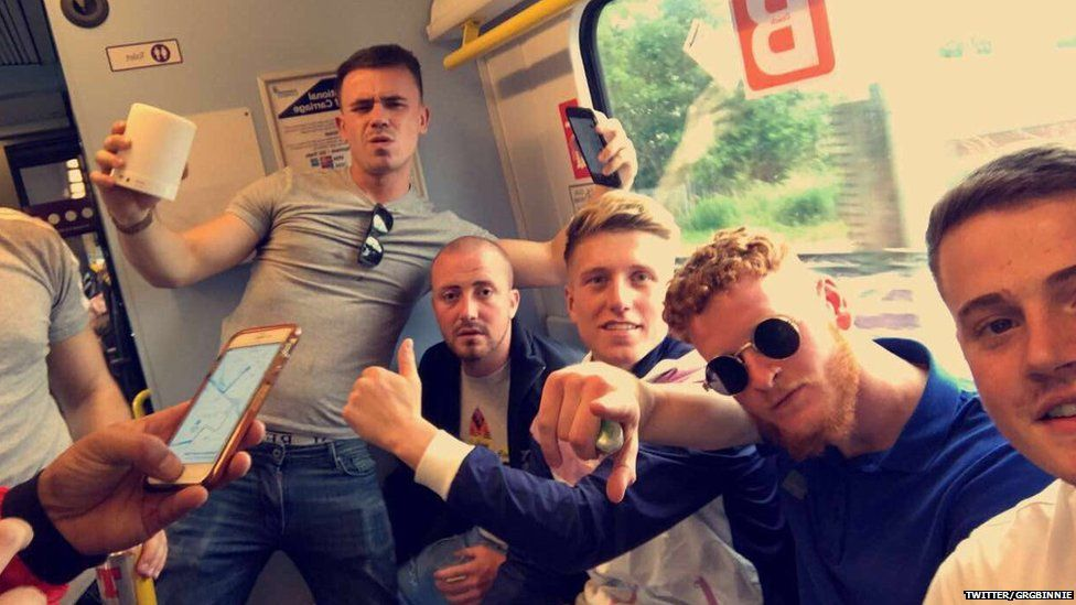 Greg Binnie and his mates en route to Parklife music festival