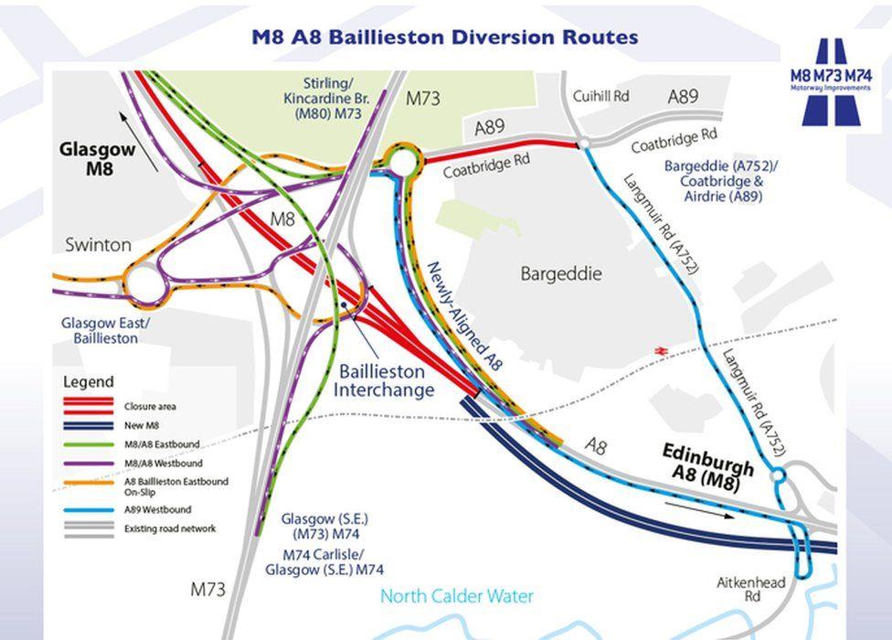 M8 diversions