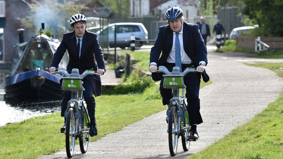 PM Boris Johnson visited the region on 5 May to show support for Mr Street