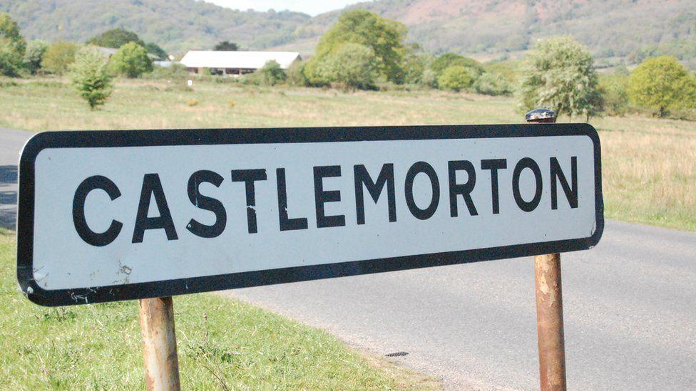 Castlemorton Common sign