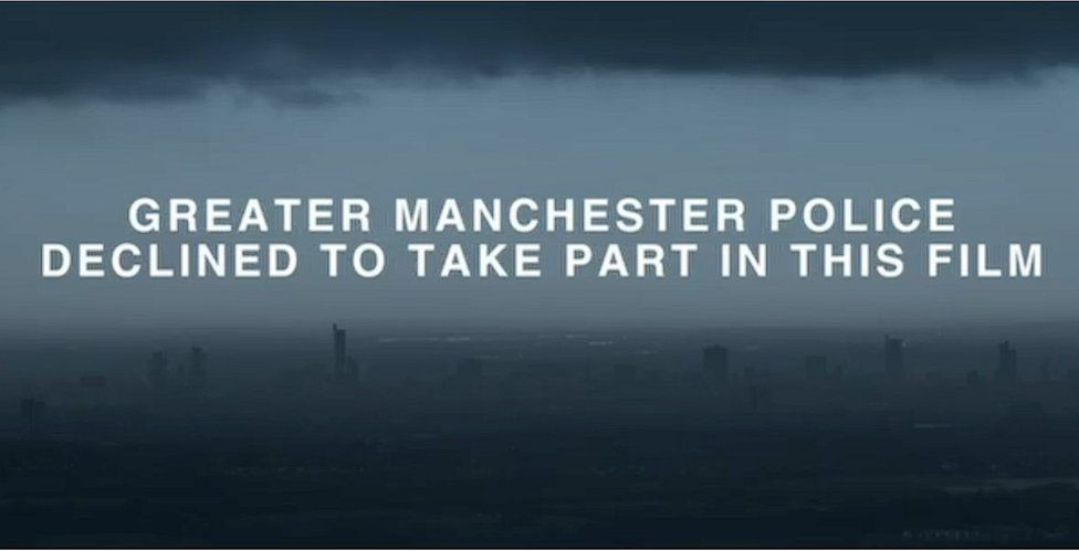 Frame from Manchester: The Night of the Bomb