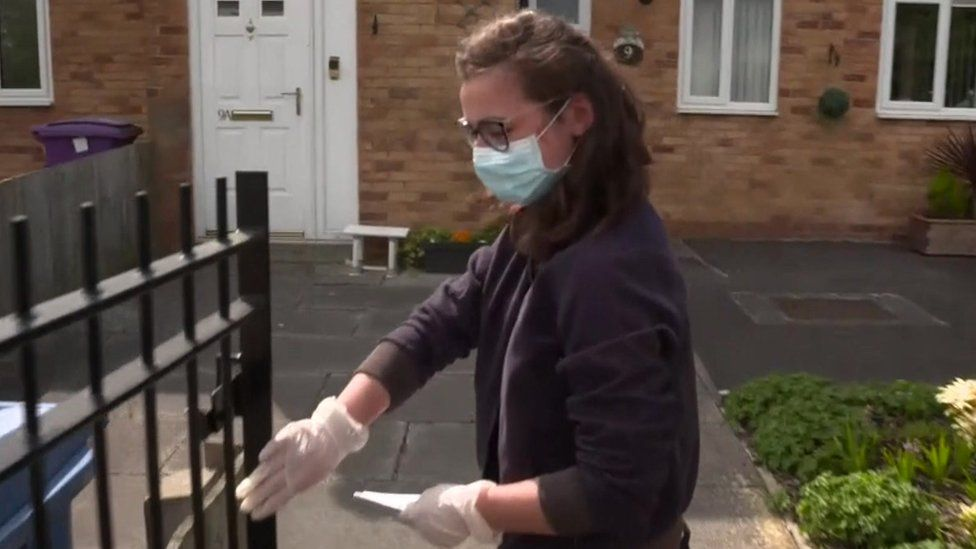 A volunteer in Liverpool