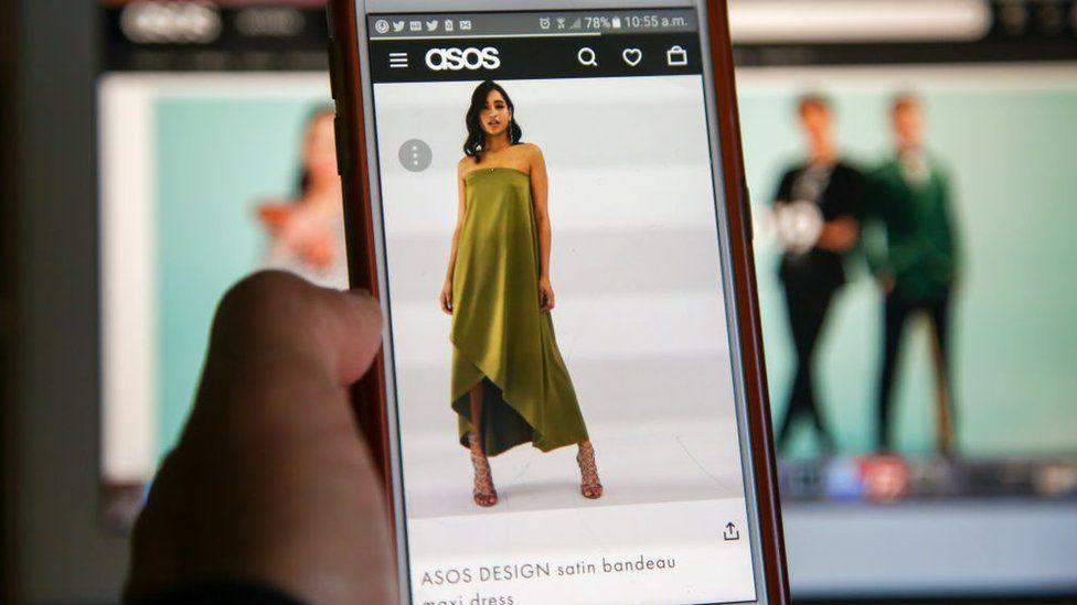Asos app on a phone