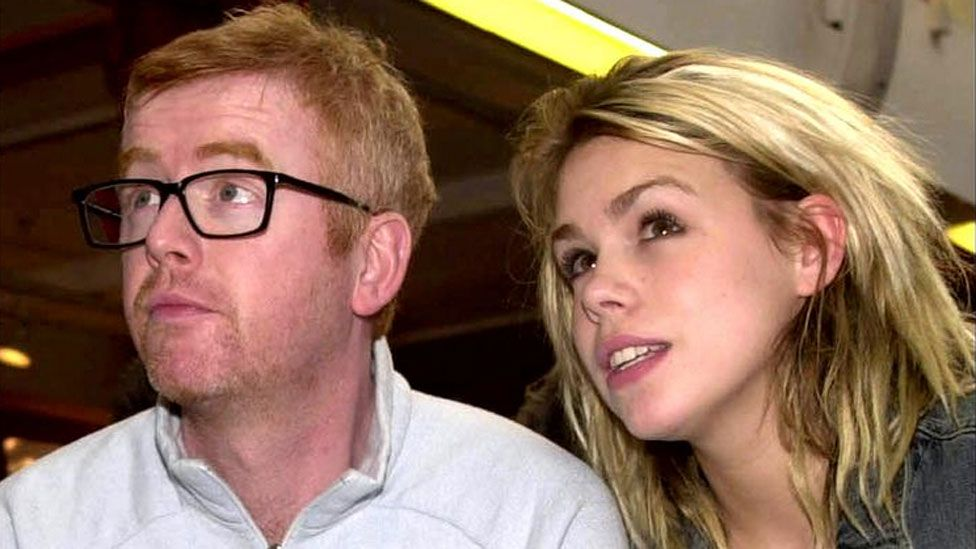 Chris Evans with Billie Piper in 2001