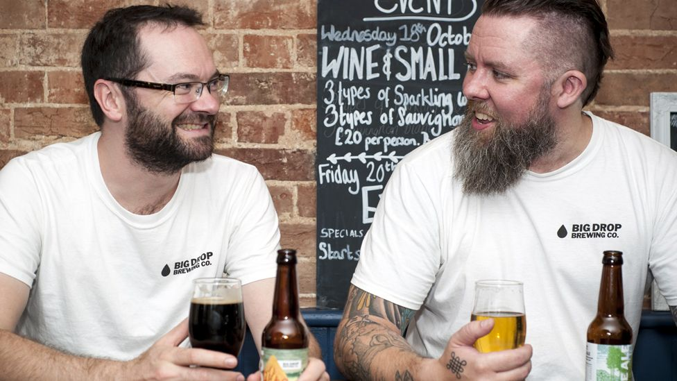 Big Drop Brewing's founders Rob Fink (left) and James Kindred