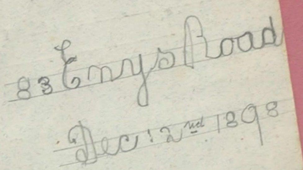 A letter to Santa written in 1898