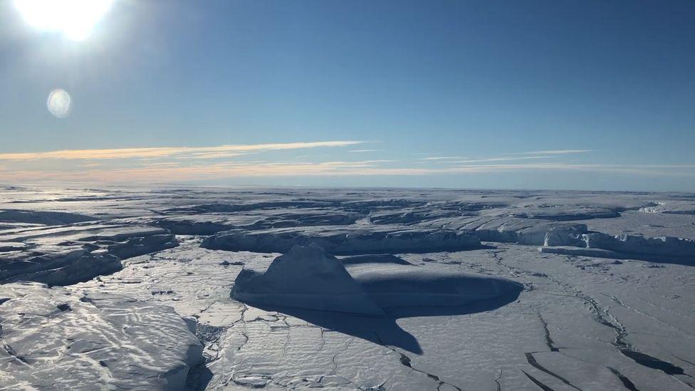 Where the Thwaites glacier meets the sea