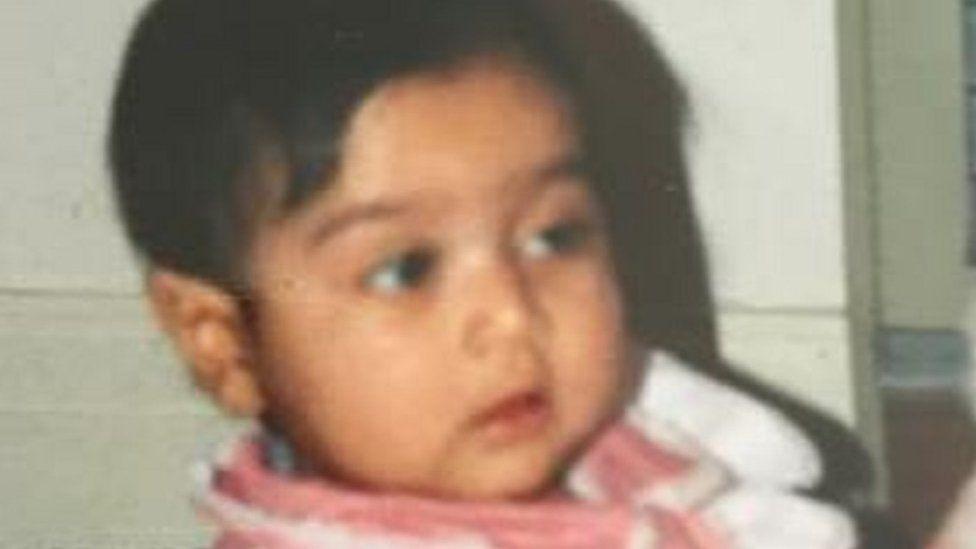 Sunaina as a baby