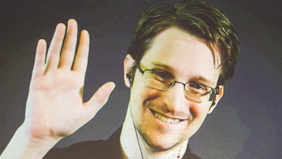 Edward Snowden on video link